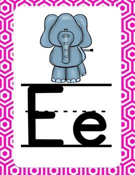 Neon Alphabet Posters