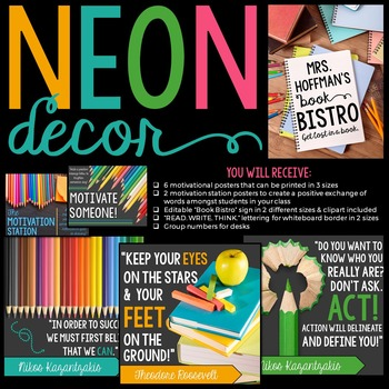 Neon Classroom Decor Bundle: Extreme Makeover Classroom Edition