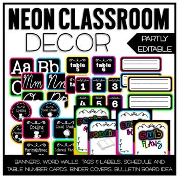 Neon Classroom Decor Set By Ginger Snaps Teachers Pay Teachers