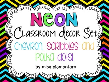 Neon Classroom Decor Set By Miss