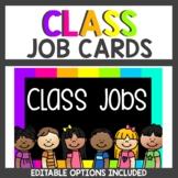 Neon Classroom Decor Themes Job Cards