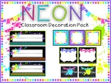 Neon Classroom Decoration Pack
