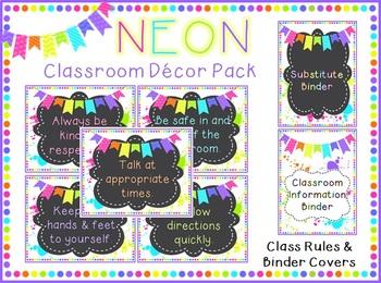 Neon Classroom Decoration Pack