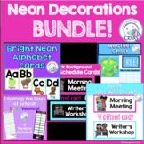 Neon Classroom Decorations Bundle