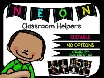 Neon Classroom Helpers