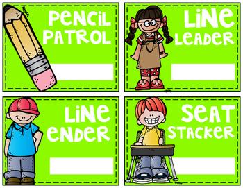 Neon Classroom Helpers/Jobs Board