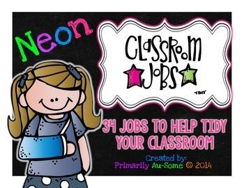 Neon Classroom Jobs Bundle