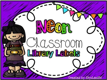 Classroom Library Labels - Rectangular Neon