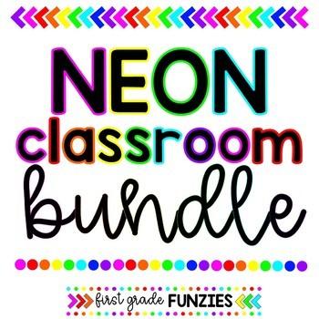 Neon Classroom Theme BUNDLE