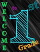 Neon Classroom Welcome Signs **FREE**