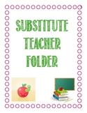 Neon Colored Theme- Substitute teacher folder