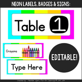 Neon Decor: EDITABLE Labels for Everything!