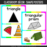 Neon Colors Shapes Posters