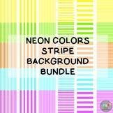 Neon Colors Stripe Background Bundle
