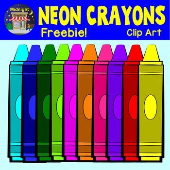 Back to School Crayons - Neon