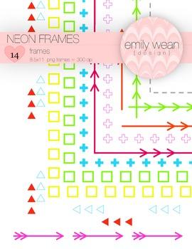 Neon Digitial .PNG Frames