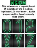 Neon Display Alphabet - Green