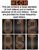 Neon Display Alphabet - Orange
