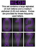 Neon Display Alphabet - Purple