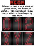 Neon Display Alphabet - Red