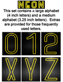 Neon Display Alphabet - Yellow
