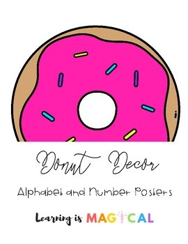 Neon Donut Alphabet & Number Posters