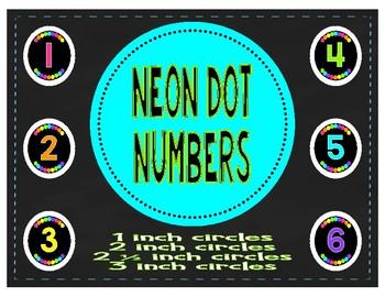 Neon Dot Classroom Numbers