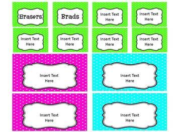 Neon Dots Teacher Toolbox Template - Editable