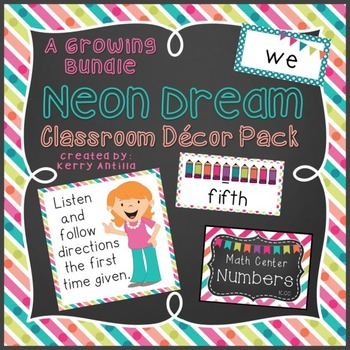 Neon Dream Classroom Decor Pack