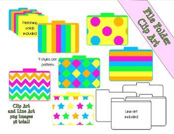 Neon Dream File Folders