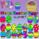 Neon Easter Eggs Clipart