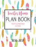 Bright Feather Plan Book, Teacher Binder, Year Calendar, Grade Book