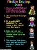 Neon Flexible Seating Rules Poster!