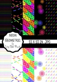 Neon Geometric Paper Pack - 80's Fun