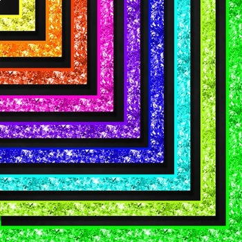 Neon Glitter Framed Chalkboards (Letter)
