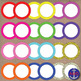 Neon & Glitter Clip Art Post-its, Labels and Notecards
