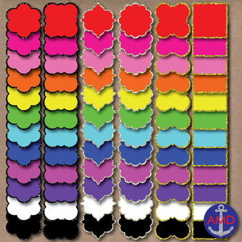 Neon & Glitter Curvy Frames- 216 Frame Mega Pack