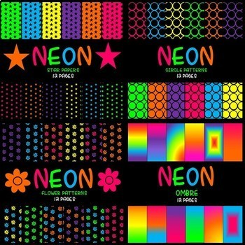 Neon Growing Bundle - Papers and Frames (197 Items)