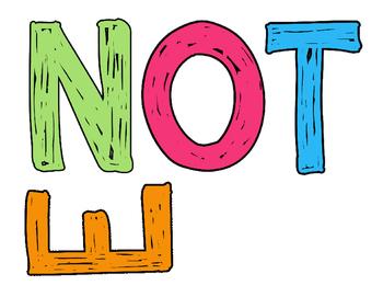 Neon Grunge Mini Poster Set Title - Noteworthy