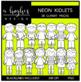 Neon Kidlets Clipart {A Hughes Design}