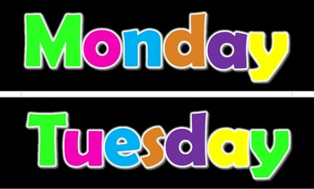 Neon Labels - Days of the Week & More
