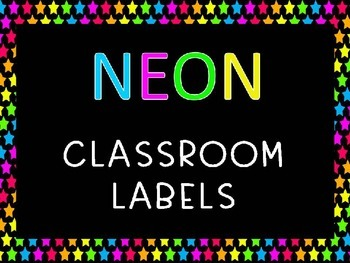 Neon Labels Editable