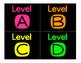 Neon Leveled Book Bin Labels