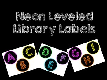 Neon Leveled Library Labels
