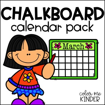 Chalkboard Themed Calendar Pack