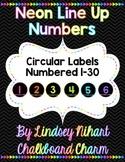 Neon Line Up Numbers 1-30