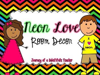 Neon Love Room Decor Pack