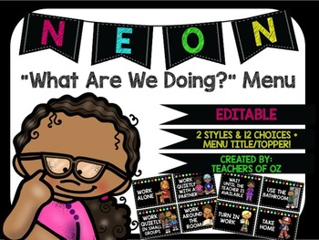 Neon Menu : What Are We Doing?