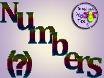 Neon Metallic Letters and Numbers Clipart
