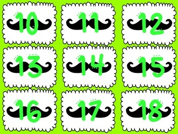 Neon Lunch Choice Signs with Mustaches